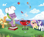 applejack book fluttershy rainbow_dash rarity spike willdrawforfood1