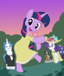 bipedal dancing dress fancy_pants hat i_shall_not_use_my_hooves_as_hands octavia_melody rarity twilight_sparkle willdrawforfood1