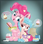 absurdres bowl cozy_glow cupcake egg highres milk pinkie_pie vectorvito