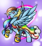 dress gala_dress rainbow_dash thurder2020