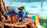rainbow_dash scootaffection scootaloo tsitra360 winsome_falls