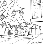 christmas_tree crossover elosande lineart plushie present smarty_pants team_fortress_2 teddy_roosebelt toy