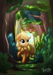 applejack filly forest highres mysticalpha tree trees