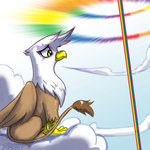 cloudsdale gilda johnjoseco scenery sonic_rainboom
