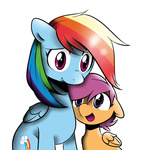 m4ng0s pekou rainbow_dash scootaffection scootaloo