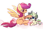 filly highres mirtash original_character scootaloo