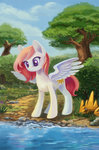 disguise highres maytee princess_celestia trees water