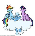 cloud egophiliac inconvenienttrixie princess_twilight rainbow_dash the_great_and_powerful_trixie twilight_sparkle