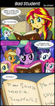 applejack book comic equestria_girls fluttershy highres humanized magic main_six pinkie_pie princess_twilight rainbow_dash rarity sunset_shimmer twilight_sparkle uotapo