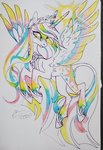 fat-bot highres princess_twilight traditional_art twilight_sparkle