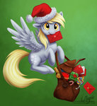 christmas derpy_hooves hat laurenmagpie mail mailbag present santa_hat
