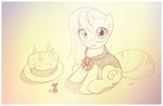 cake candle highres mouse original_character sherwoodwhisper traditional_art