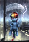 bakuel nighttime rain rainbow_dash umbrella