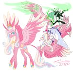 fat-bot highres princess_cadance princess_flurry_heart queen_chrysalis redesign shining_armor