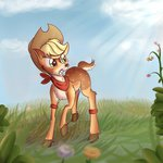 applejack deer highres species_swap thediscorded