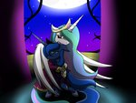 absurdres dazed-and-wandering highres hugs nightgown princess_celestia princess_luna tears