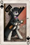 cards coat gun highres octavia_melody weapon yakovlev-vad
