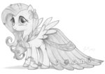 absurdres clothes dress flowers fluttershy flutterstormreturns gala_dress highres traditional_art