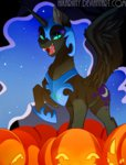 hikariviny nightmare_moon pumpkin