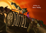 applejack barrel bowler_hat braeburn buffalo dress hat jowybean little_strongheart piano pinkie_pie spike title_card