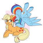 appledash applejack lulubellct rainbow_dash shipping