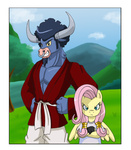 dragon_ball_z fluttershy himanuts iron_will mr_satan videl