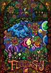 angel bird bunny dress flamingo fluttershy frog gala_dress glenbw highres moon squirrel stained_glass turtle ursa_minor window