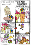 a_rubber_chicken apple_bloom comic cutie_mark_crusaders hammer kturtle rubber_chicken rubik's_cube scootaloo scooter sweetie_belle