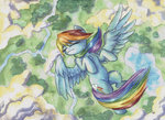 flying rainbow_dash the-wizard-of-art