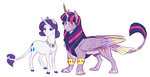 classical_unicorn earthsong9405 highres rarity shipping species_swap sphinx twilight_sparkle