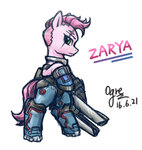crossover highres ogre overwatch ponified zarya