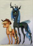 adeptus-monitus applejack queen_chrysalis
