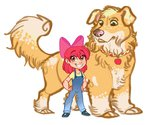 absurdres apple_bloom applejack dog earthsong9405 highres humanized species_swap