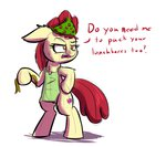 apple_bloom apron bipedal heir-of-rick scarf text