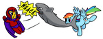 magneto marvel_comics rainbow_dash rydelfox shark x-men
