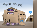 book_fort cardboard_box doomy russian twilight_sparkle vehicle