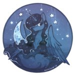 cloud highres moon princess_luna stars zoliklispp
