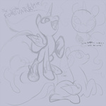filly lineart nightmare_moon palestorm