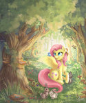 absurdres bird ferret fluttershy highres katyand rabbit squirrel
