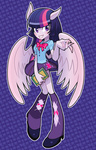 anime book equestria_girls gashi-gashi horse_ears humanized twilight_sparkle variety_is_the_why wings