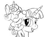 negasun princess_flurry_heart sketch twilight_sparkle