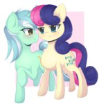 best_friends highres lyra_heartstrings lyrabon shipping sweetie_drops verawitch