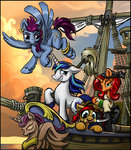 clothes harwick highres original_character pirate shining_armor ship sword weapon