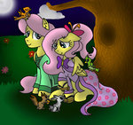 bird bunny clone fluttershy gender_swap kikirdcz kittiesandbears101 squirrel