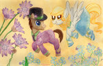 absurdres clothes derpy_hooves flowers hat highres kelseyleah time_turner traditional_art