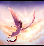 cloud flying highres princess_twilight sparrowflightart stars twilight_sparkle