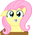 cardboard_box filly fluttershy miketheuser transparent