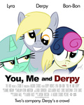 derpy_hooves loomx lyra_heartstrings parody poster sweetie_drops you_me_and_dupree