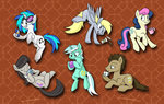 coffee cup derpy_hooves lyra_heartstrings mug octavia_melody red_bull sophiecabra sweetie_drops tea time_turner vinyl_scratch
