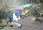 crossover fight link primogenitor34 shield shining_armor sword the_legend_of_zelda weapon